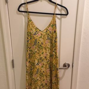 Yellow Floral Old Navy Maxi Dress